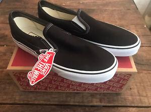 Vans Black Slip On UK 8 Brand New
