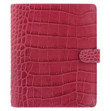 Filofax Classic Croc A5 Size Organizer/Planner Fuchsia Leather 026075 Brand New