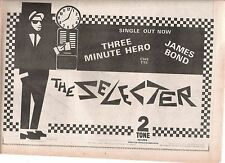 SELECTER 3 Minute Hero / James Bond 1980 UK Press ADVERT 12x8 inches 2 TONE