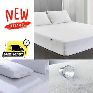 New Waterproof Mattress Protector Cosy Anti Bug Terry Towel Matress Cover Sheets