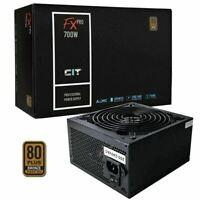 CIT 700W FX Pro 80 Plus PSU Power Supply Active PFC 8-Pin 12V 4x PCI-E 14cm Fan