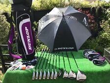 Donna Dunlop tpii Tour Graphite Set completo mazze da golf condizione superba mano destra