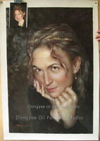 Accept custom order portraits oil painting from your Photographic Images