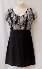 Size 18 Corporate Dress Chiffon Print Top + Black Skirt Work Office - FREE POST