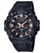 Casio G-Shock G-Steel Diamond Index W/Time Blk/Rose Gold Watch GSTS310BDD-1A