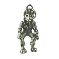 New Alpha Lycan Wolfman Man Wolf Sterling Silver 925 Halloween Charm Jewelry