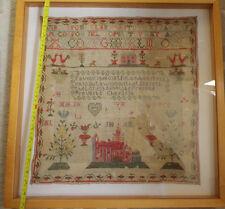 Sampler from 1888 or 1838 Framed