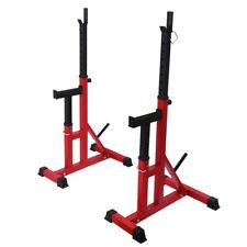 Weider Olympic Squat Rack Stands Home Gym Equipment+Weight Storage+Spotting Arms