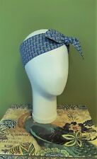 Headband Head Scarf Hair Wrap Bow Rockabilly Vintage Retro Geometric Pattern
