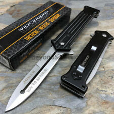 """Joker's """"Why So Serious"""" Outdoor Camp Handy Silver Black Pocket Knife TAC-FORCE"""