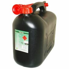 Black Diesel Fuel Canister Plastic Lawn Mower Jerry Can 10 Litre Flexible Spout