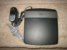 Cisco Linksys E2500 Dual-Band Wireless-N Router 4Ports w/PwrCord & Cable - Works