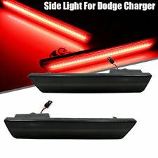 2X Red Rear Side Marker LED Lights For 08-14 Dodge Challenger/11-14 Charger