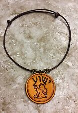 Yeshua HEBREW Leather Necklace Yeshua LION OF JUDAH Messianic Jesus