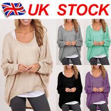 Plus Size ! UK Womens Long Sleeve T-Shirt Ladies Loose Baggy Tops Blouse 6-24