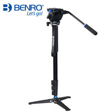 Benro A35FDS4 Aluminum Monopod With Base and S4 Fluid Head For Video DSLR Camera