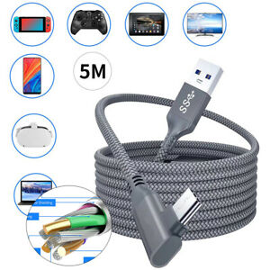 3-5M USB Type-C Link Cable Data for Oculus Quest 2 PC Game VR Headset Durable