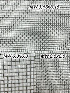 Drahtgewebe Edelstahl blank verschiedene Maschenweiten Gitter Zuschnitt Neu