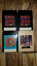 VINTAGE KISS 8 TRACK TAPE LOT DESTROYER KISS ALIVE II ROCK AND ROLL OVER