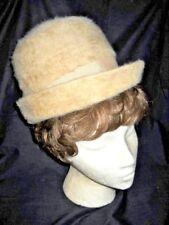 3d3bcbee81c VINTAGE BEIGE TALL BRETON HAT Textured Union Gibbe  Merri-Soie Merimac  Woman s