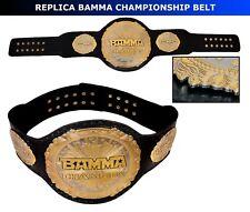 MMA BAMMA CHAMPIONSHIP BELT HAND MADE REPLICA BELT LEATHER STRAP ADULT SIZE NEW