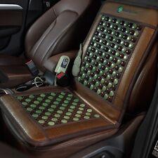 HealthyLine 12V Car Heated Seat Jade Tourmaline Healing FIR Negative Ions Mat