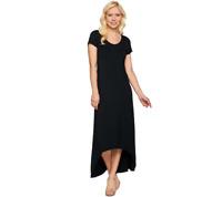 H By Halston Regular Hi Low Hem Knit Maxi Dress And Scoop Neck Size XXS Black