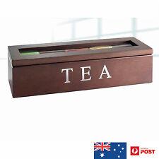 UniGift Wooden Tea Storage Box 5 Compartments Brown New in Box