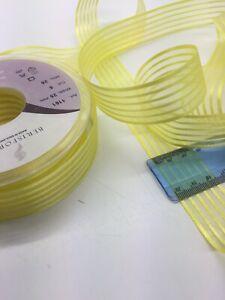 2m Berisfords Yellow Ribbon. Art.1161. 25mm Wide