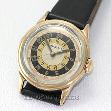 Movado Vintage 24 Hour Dial Made For Tiffany & Co 6296 Steel 18K Gold 30mm