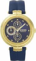 Versus by Versace VSP500218 Damen Bellville Armbanduhr Gold Blue Lederarmband