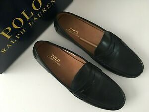POLO RALPH LAUREN LEATHER WES SLIP ON SHOES/DRIVERS SHOES