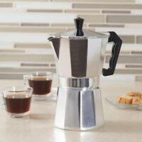 Aluminum Stovetop Espresso Coffee Maker Latte Moka Pot Percolator 1/3/6/9/12 cup