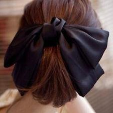 Fashion Girl Women Bowknot Hair Clip Big Bow Hairpin Hair Accessories Q