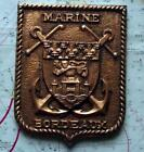 Old French Navy Metal Plaque Tampion Crest : Marine Bordeaux