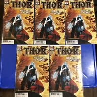 THOR #6 FIVE 5! COPIES! 1st Print MAIN VARIANT COVER 2020 CATES Black Winter NM+