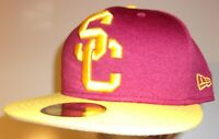 New Era 59Fifty USC Trojans Southern California Cap Hat men fitted 7 1/2 heather