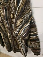 VTG Croft & Barrow Cosby Coogi Sweater Men's Size Large Textured Knit