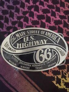 Buckle Gürtelschnalle Gürtelschließe Westernbuckle Route 66 USA neu