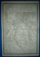 Vintage 1882 Atlas Map ~ NEW MEXICO TERRITORY ~ Antique & Authentic ~ Free S&H