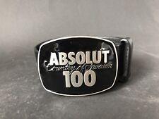 Absolut Vodka 100 ceinture NOIR CUIR VERITABLE 105 cm neuf neuf dans sa boîte