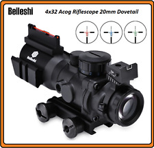 4x32 Acog Riflescope 20mm Dovetail Reflex Optics Scope Tactical Sight For Huntin