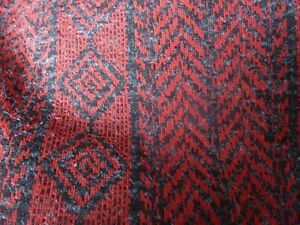 Dark Red and Black Jersey Fabric 3 metres