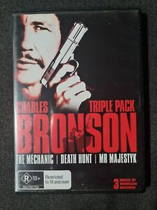 Charles Bronson - The Mechanic, Death Hunt, Mr Majestyk DVD - 3 Discs - Region 4
