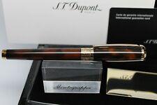 "S.T. DUPONT - ""LINE D"" ROLLERBALL PEN IN ATELIER BROWN 412699 MSRP 1025.00"