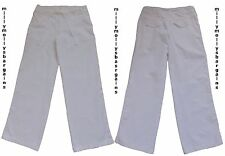 New Womens White Linen NEXT Trousers Size 8 Regular LABEL FAULT