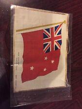 Lovely Bdv Cigarette Silk Picture -  Ww1 Allies - New Zealand Merchant Flag