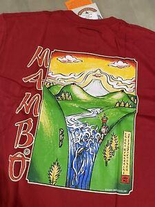 Vintage Deadstock Mambo Art Print T Shirt L-XL, Skate Surf Interstellar Loud