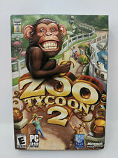 Zoo Tycoon 2 Computer Video Game for PC Computers w/ Box and Booklet