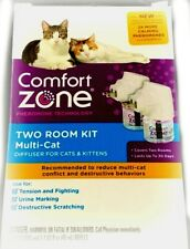 New listing Comfort Zone Two Room Kit Calming Diffuser For multi-cat Cats & Kittens Nib